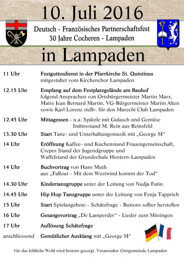 Aktuell_Programm Partnerschaftsfest 30 Jahre Cocheren Lampaden_20160703